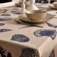 Maoge Home tischdecke Blaue Welle tischtuch Stoff