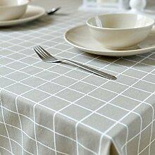 Maoge Home tischdecke Retro Home tischtuch.Lattice