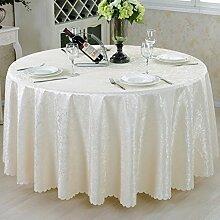 Maoge Runde tischdecke,Hochzeit/Restaurant/Restaurant tischdecken/Hotel Runden tischdecke.Einfache Moderne Familie tischtuch.Mehrere Farben.White-Weiß Diameter:380cm(150inch)