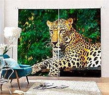 MAOYYM2 Gardinen Vorhänge Animal Tiger Print