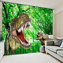 MAOYYM2 Gardinen Vorhänge Dinosaurier Print Luxus