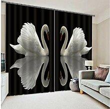 MAOYYM2 Gardinen Vorhänge Luxus Blackout 3D