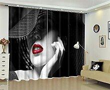 MAOYYM2 Gardinen Vorhänge Vorhänge Schlafzimmer