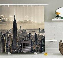 MAOYYM2 Gewebe-Duschvorhang des Stadt-Foto-3D