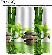 MAOYYM2 Grüne Bambus Duschvorhang Haken Mit 12