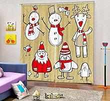 MAOYYM2 Weihnachten Schneemann Malerei Blackout