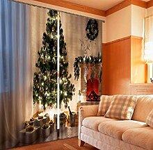 MAOYYM2 Weihnachtsbaum Malerei Blackout Vorhänge