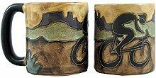 Mara Stoneware Mug - Bicyclist- 16 oz by Mara