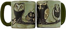 Mara Stoneware Mug - Owls Bird - 16 oz by Mara