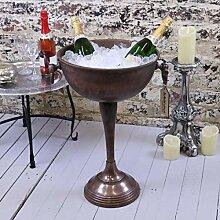Maravi Vintage Boden stehend oval Champagner