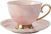 Marble Kaffeetasse und Saucer Set Keramik Teetasse