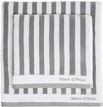 Marc O'Polo Classic Stripe  Handtuch Grau /