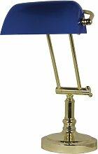 mare-me Antike Bankerlampe blau