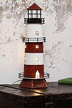 mare-me Leuchtturm Lampe rot weiß