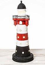 mare-me Leuchtturm Roter Sand Lampe elektrisch