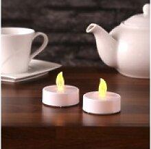 MARELIDA LED-Kerze LED XXL Teelicht gelb flackernd