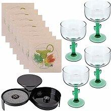 Margarita-Set bestehend aus 4 Margarita-Gläsern,