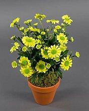 Margeritenbusch 32cm gelb im Topf ZF Kunstpflanzen