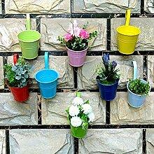 MARGUERAS 10pcs Blumentöpfe zum Aufhängen Wand Hängetöpfe Pflanzen Garten Blumentopf Balkon Töpfe Pflanze Wand