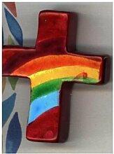 Maria Laach Kunsthandwerk Handkreuz Rot mit