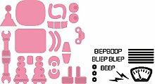 Marianne Design COL1403 Collectables Roboter - Stempel und Stanzschablone für die Kartengestaltung und Scrapbooking, Metal, rosa, 8,4 x 10 x 0,4 cm