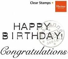 Marianne Design Congratulations UK CLEAR STAMP, schwarz