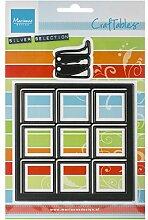 Marianne Design CR1286 Craftables Fenster mit Schnee - Stanzschablone und Prägeschablone für die Kartengestaltung und Scrapbooking, Steel, grau, 10 x 10 x 0,3 cm