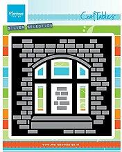 Marianne Design CR1389 Craftables Stanzform Karte mit Aussicht - Cutting Die, Stahl, grau, 19 x 12 x 0.4 cm