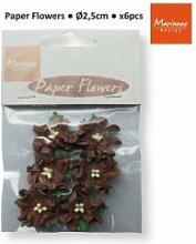 Marianne Design Decoration Paper Flowers - Dark Brown