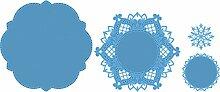 Marianne Design LR0327 Creatables Anjas Kreis - Stanzschablone und Prägeschablone für die Kartengestaltung/Scrapbooking, Metal, blau, 12.8 x 12.7 x 0.4 cm