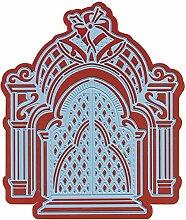 Marianne Design LR0337 Creatables Petras Glocken - Stanzschablone und Prägeschablone für die Kartengestaltung und Scrapbooking, Metal, blau, 11,6 x 12,7 x 0,4 cm