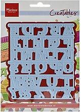 Marianne Design LR0340 Creatables Alphabet Girlande - Stanzschablone und Prägeschablone für die Kartengestaltung und Scrapbooking, Metal, blau, 9,9 x 11,4 x 0,4 cm