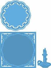Marianne Design LR0383 Creatables Petras Kerze - Stanzschablone und Prägeschablone für die Kartengestaltung und Scrapbooking, Metal, blau, 12 x 12 x 0,4 cm