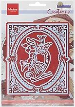 Marianne Design MDLR0351 Creatables Petras Vögel - Stanzschablone und Prägeschablone für die Kartengestaltung / Scrapbooking, Metall, blau, 19 x 13.3 x 0.2 cm