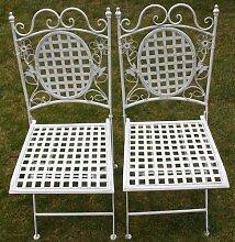 Maribelle - Gartenmöbel-Set - 2 eckige Stühle -