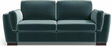 Marie Claire Home | 2-Sitzer Sofa Bree blau Samt