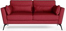 Marie Claire Home | 2-Sitzer-Sofa Susan rot Leinen