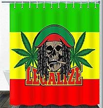 Marihuana Blatt Unkraut Duschvorhang Unkraut