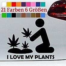 Marihuana Pflanze Aufkleber Love My Plants