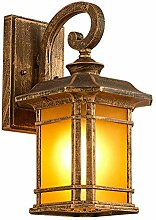 Mariisay Vintage Retro Schwarz Gold E27 Wandlampe