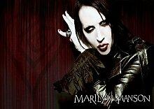 Marilyn Manson 29 Great Rock Metal-Album Cover, Musik-Band-Motiv mit Bilderrahmen, für A4