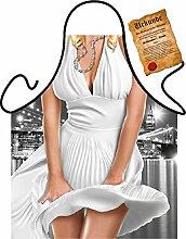 Marilyn/Themen/Motiv-Fun/Spaß-Grill/Kochschürze: Marilyn Monroe - inkl. Spaß-Urkunde