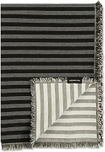 Marimekko - Tasaraita Wolldecke 130 x 180 cm, schwarz / grau
