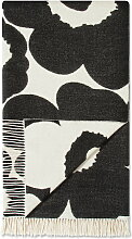 Marimekko - Unikko Wolldecke 130 x 192 cm, schwarz