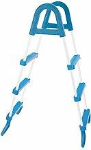 Marimex Sicherheitsleiter für Pools, weiß/blau, 7,5x31x111,5 cm, 10950014