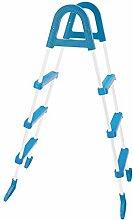 Marimex Sicherheitsleiter für Pools, weiß/blau, 8,5x31x137,5 cm, 10950010