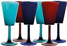 Marine Business Enjoy Life Weinglas, Blau, Rot und