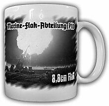 Marine-Flak-Abteilung 710 8,8cm FlaK M.F.A. M.Fl.A. Marine Flak Abteilung Wh WK Flugabwehr Nachschießen Schuss Foto Bild- Tasse Kaffee Becher #15628