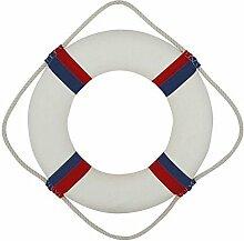 Marine Rettungsring, Deko Rettungsring, Stoffbezug Rot/Blau/Weiß Ø 35 cm