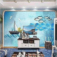 Marine Segelfisch Blau für Wände Wandbilder